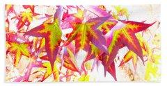 Autumn Leaves Experiment Beach Sheet