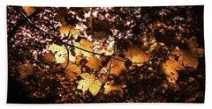 Autumn Leaves Beach Sheet