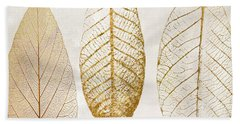 Autumn Leaves IIi Fallen Gold Beach Towel