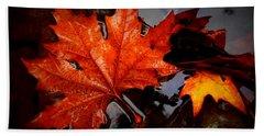 Autumn Leaves In Tumut Beach Sheet by Lexa Harpell