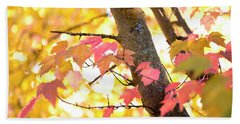 Beach Sheet featuring the photograph Autumn Leaves by Ivy Ho
