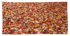 Autumn Leaves Beach Towel by Marilyn Wilson