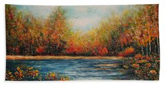 Autumn Leaves Beach Towel by Natalie Holland