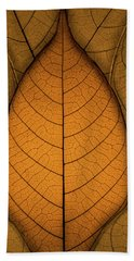 Beach Towel featuring the photograph Autumn Leaves by Paul Wear