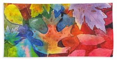 Autumn Leaves Recycled Beach Towel