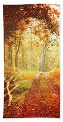 Autumn Lights Beach Sheet