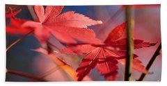 Autumn Maple Beach Sheet