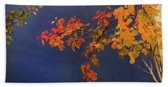 Beach Towel featuring the photograph Autumn Matinee by Theresa Tahara
