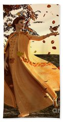 Beach Towel featuring the digital art Autumn by Methune Hively