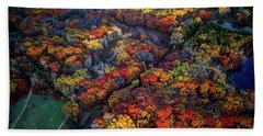 Autumn Minnesota Parks - Lebanon Hills Park Dakota County Beach Towel
