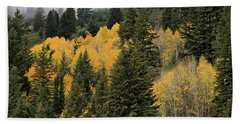 Autumn Mist, Owyhee Mountains Beach Towel