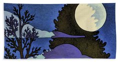 Autumn Moon Beach Towel
