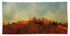 Autumn Moonrise Beach Towel