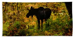 Autumn Moose Beach Sheet