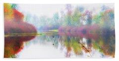 Autumn Morning Dream Beach Sheet