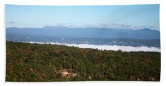 Beach Towel featuring the photograph Autumn Morning by Jeff Severson