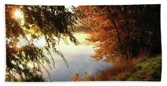 Autumn Morning  Beach Towel by Kathy Bassett