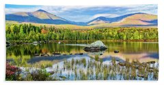 Autumn Mt.katahdin Baxter Sp Maine Beach Towel