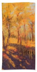 Autumn Oaks Beach Towel