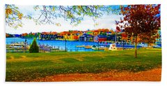 Autumn On Lake Charlevoix Beach Sheet