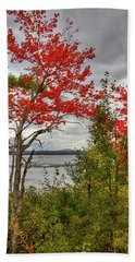 Beach Towel featuring the photograph Autumn On Raquette Lake by David Patterson