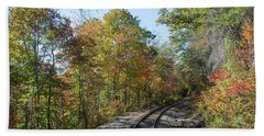 Autumn On The Hiawassee Rails Beach Towel