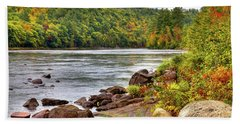 Beach Sheet featuring the photograph Autumn On The Hudson River by David Patterson