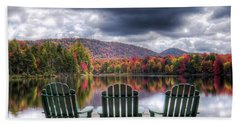 Beach Towel featuring the photograph Autumn On West Lake by David Patterson