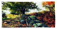Autumn Orchard Beach Towel