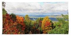 Beach Sheet featuring the photograph Autumn Overlook by Trina Ansel