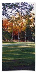 Autumn Park Beach Towel