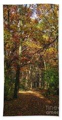 Autumn Path At St Croix Bluffs Beach Towel