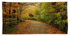 Autumn Path Beach Sheet