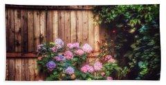 Autumn Peace - Garden Beach Sheet by Miriam Danar