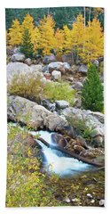 Beach Towel featuring the photograph Autumn Peace by Gary Lengyel