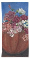 Autumn Petals Beach Towel