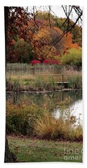 Autumn Pond In Maryland Beach Towel
