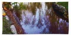 Autumn Reflection Pond Beach Sheet