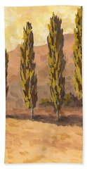 Autumn Poplars Beach Towel