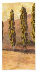 Autumn Poplars Beach Sheet