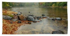 Autumn Rain Gauley River Beach Towel by Thomas R Fletcher