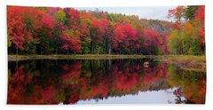 Autumn Reflected Beach Towel
