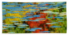 Beach Towel featuring the photograph Autumn Lily Pads by Diana Angstadt