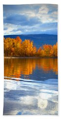 Autumn Reflections At Sunoka Beach Towel