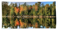 Autumn Reflections Of Maine Beach Sheet