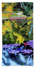 Autumn Reflections On The Pond Beach Towel