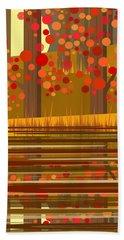 Autumn Reflections Beach Sheet