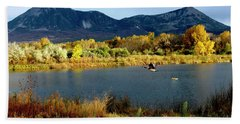 Autumn Rest Stop For Canadian Geese Beach Towel