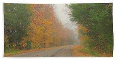 Autumn Roads Beach Sheet
