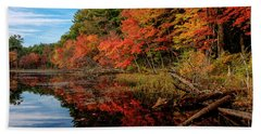 Autumn Scene Beach Towel
